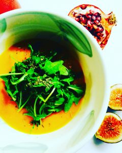 Pumpkin Sweet Potato Soup with Turmeric