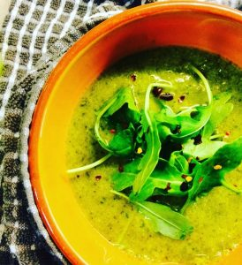 Autumn Broccoli Soup + Potato Fries = Vitamin C Immune Boost